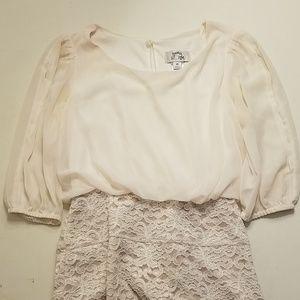 White/Cream Laced Dress